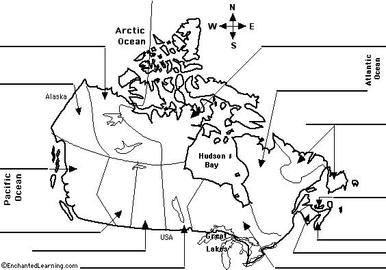 Label Canadian Provinces Map