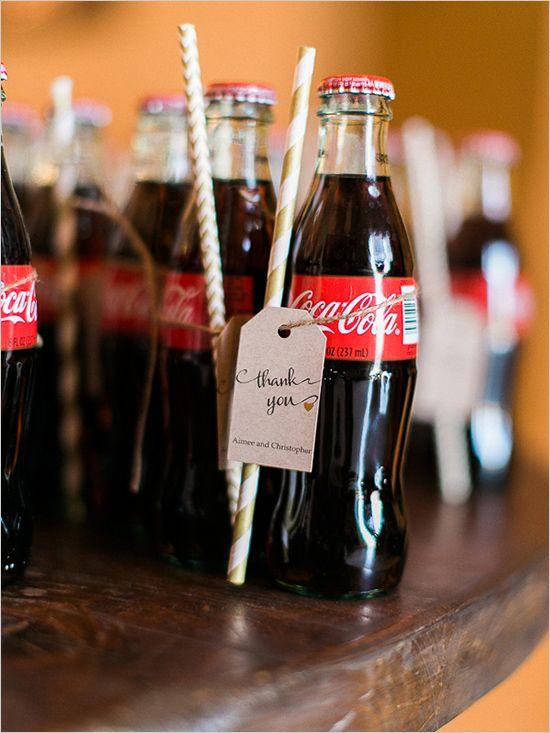 classic coke wedding favors @weddingchicks