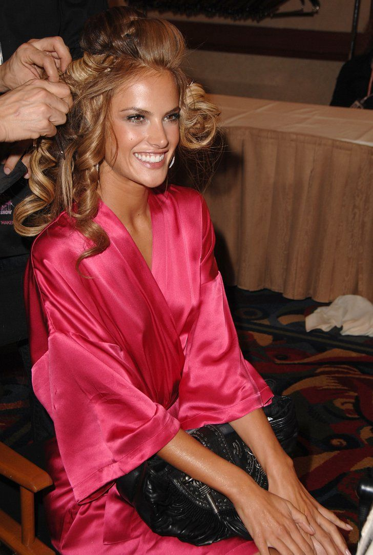 Pin for Later: 150+ Supersexy Moments to Get You Excited For the VS Fashion Show  Alessandra Ambrosio sat pretty in her pink silk robe while getting her hair done in 2007.