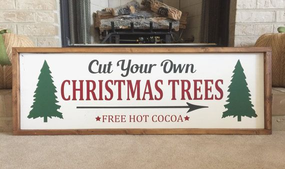 65 cut your own christmas trees this adorable sign is sure to bring a rustic vintage feel to - Hemp rope craft ideas an authentic rustic feel ...
