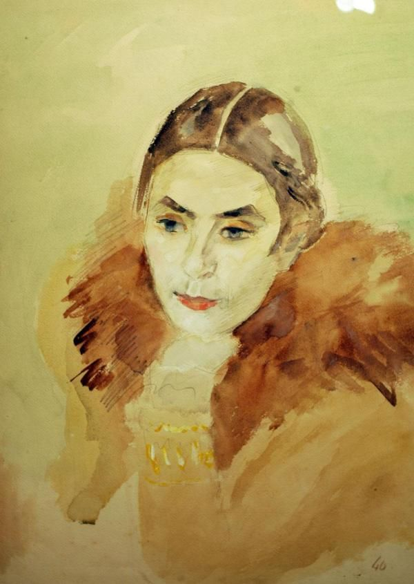 lawrenceleemagnuson:  Portrait of Shchekin-Krotova1940  Robert Falk, Russia 1886-1958