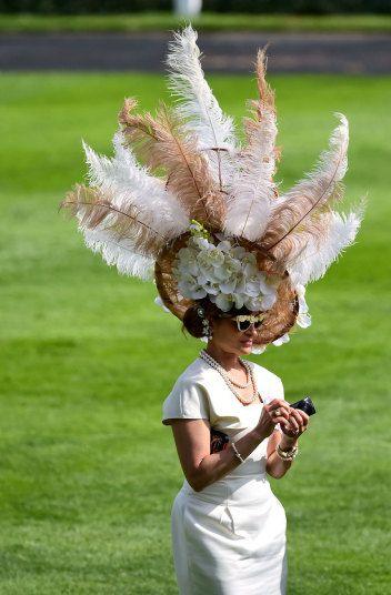 Royal Ascot 2015 in Berkshire. Fabulous feathers