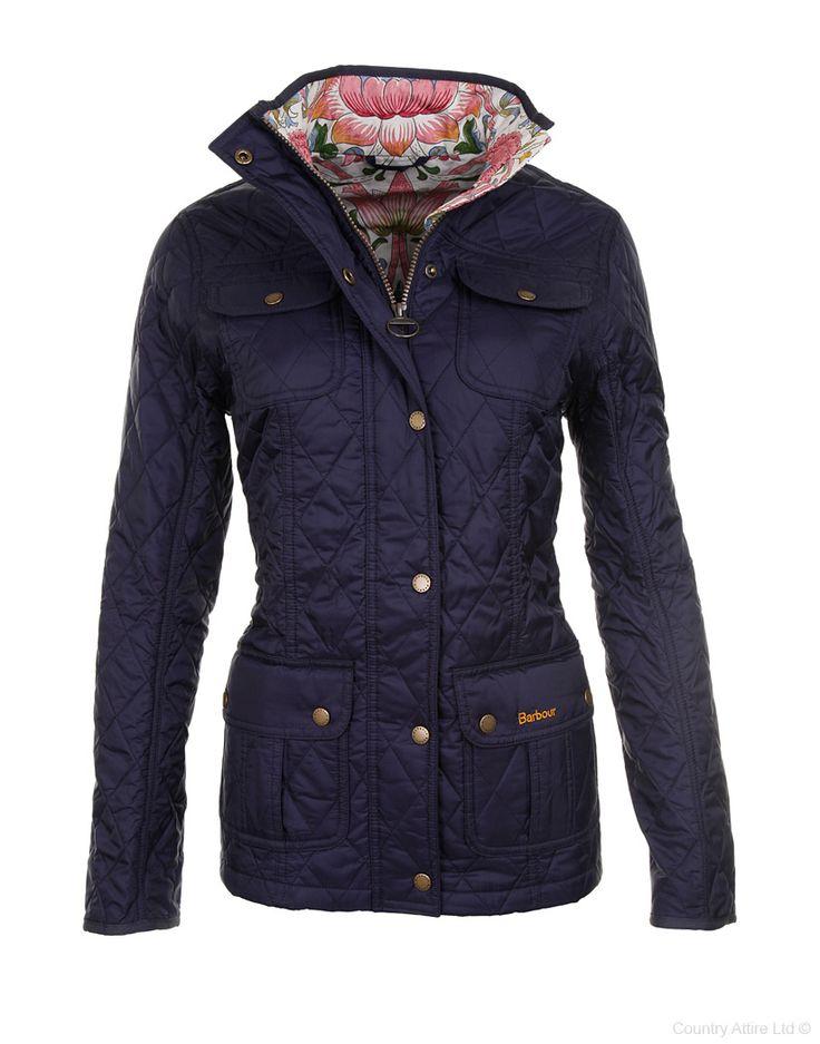 Barbour Ladies' Morris Utility Quilt Jacket – Navy/Loden LQU0517NY91