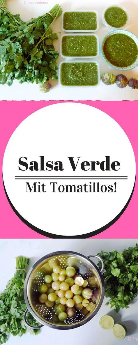 Diese leckere Salsa aus Tomatillos gehört zu jedem mexikanischen Essen auf den Tisch. Die Salsa verde schmeckt original mexikanisch. Mexikaisch vegetarisch | Mexikanische Salsa | Tomatillo Rezept | Authentisch Meikanisch | Vegetarisch kochen | Rezept Vegetarisch | Vegan kochen | vegan mexikanisch | vegane Salsa | grüne Sauce