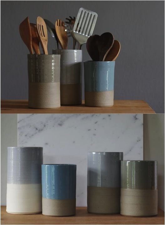 When you spend so much time making sure every piece of your kitchen comes together perfectly, why not include a gorgeous utensil holder as well? | Made on Hatch.co by independent makers & designers