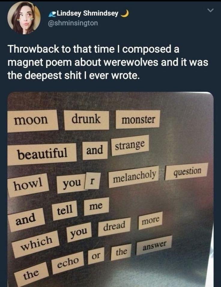 Werewolf magnet poem beautiful – #beautiful #magne… – #ados #Beautiful #magne
