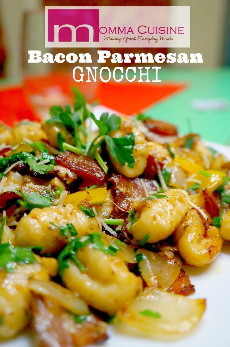 Bacon Parmesan Gnocchi Recipe by @MommaCuisine for @DoortoDoorOrganics. www.mommacuisine.com