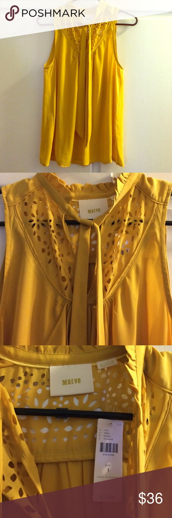 Mustard yellow tank. Mustard yellow tank. From Anthropologie. NWT. Gorgeous color and perfect to wear with tights or a fall skirt. Fits small-medium. Anthropologie Tops Tank Tops