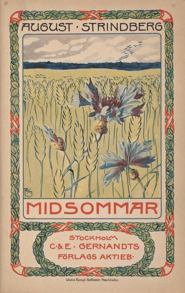 August Strindberg. Midsommer. 1901. (book cover)