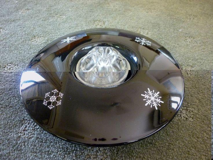Davidson Snowflake Black Glass Float Bowl With Frog
