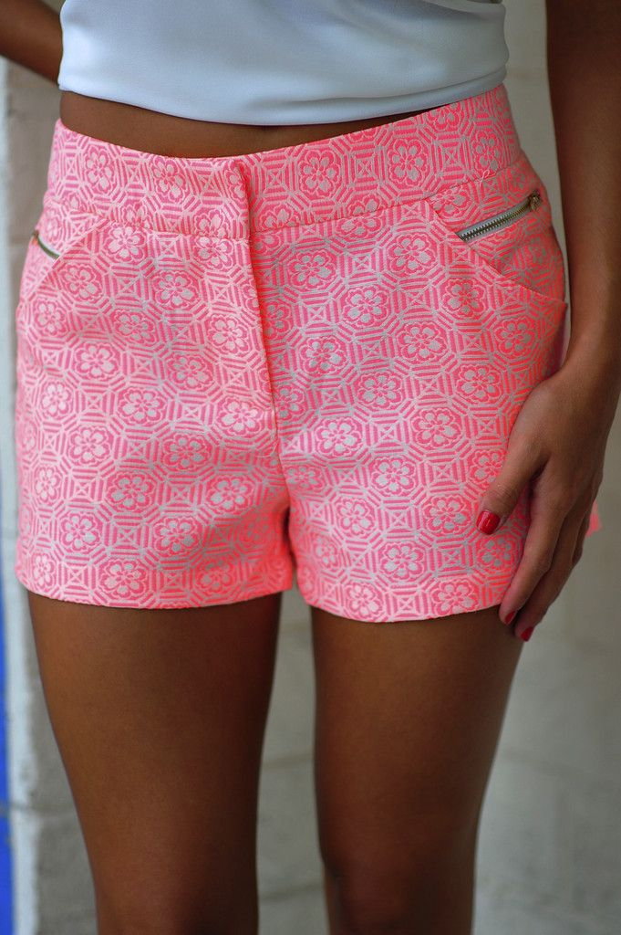 A Preppy State Of Mind Shorts: Neon Pink