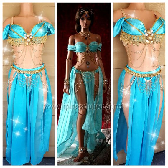 Inspired Jasmine Princess Outfit -Dance - - Halloween Costume - Custom - Theatre Costume - Music Festival - EDM $400 etsy