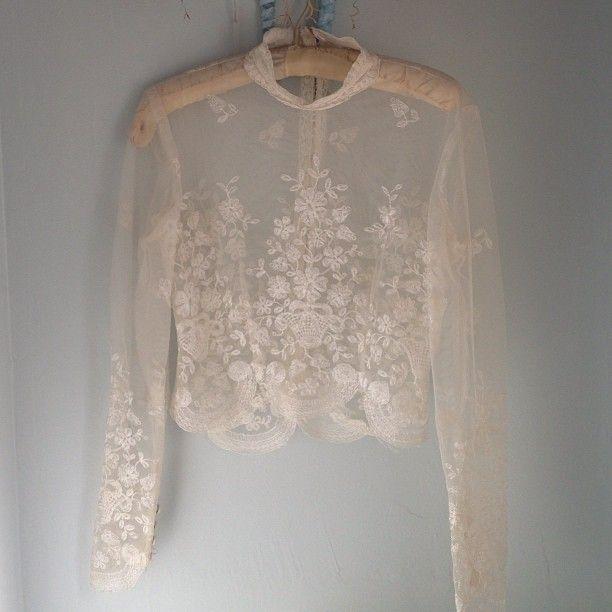 #Vintage lace blouse breathtaking