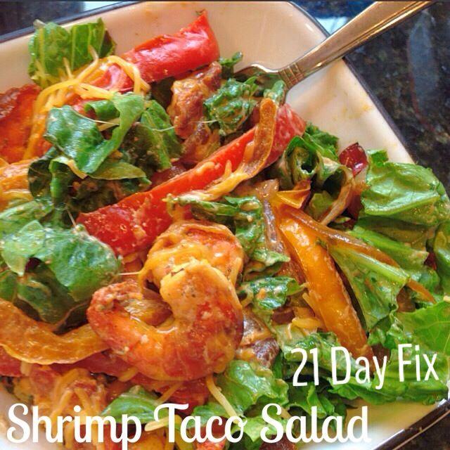 Shrimp Taco Salad -