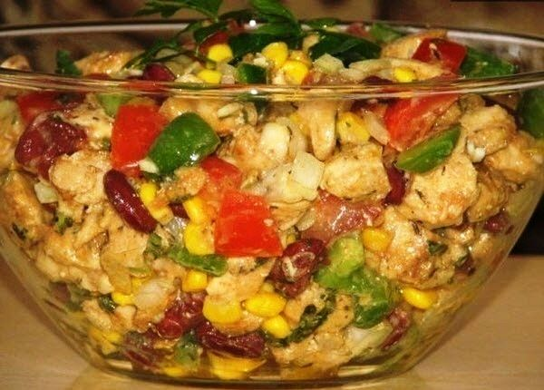Салат без майонеза рецепт Ингредиенты: 2 куриных филе
