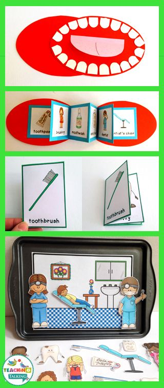 Dental Health Themed Vocabulary Activities & Games by teachingtalking.com: