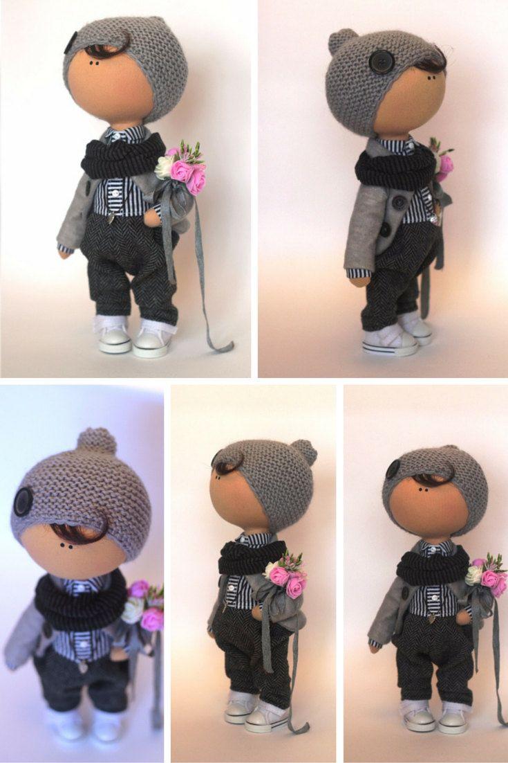 Boy doll Tilda doll Teenager doll handmade by AnnKirillartPlace