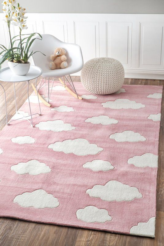 lily cloudy sachiko hand tufted pink area rug home pinterest