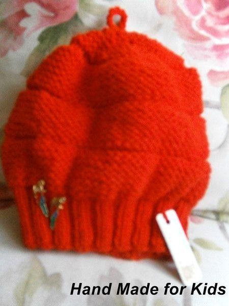czapka+*+beret+49+cm+w+Hand+Made+Lidia+na+DaWanda.com