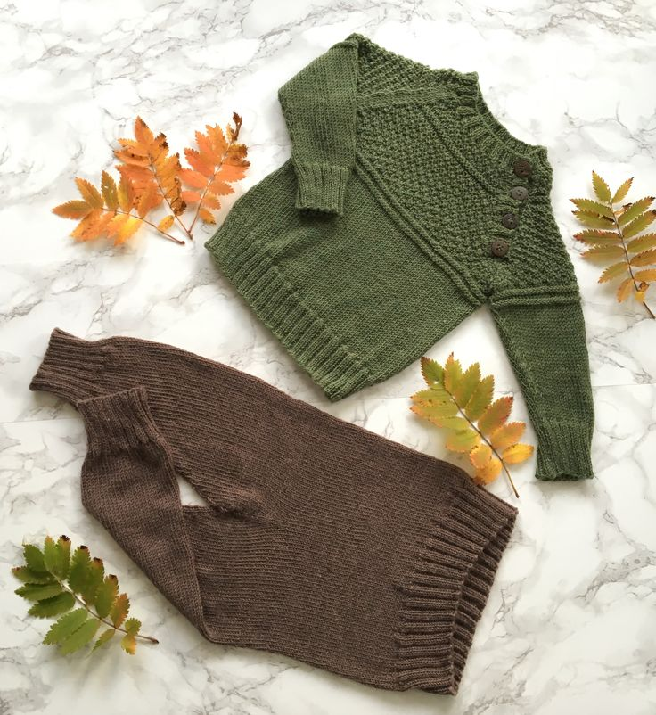Knitting for a baby boy.