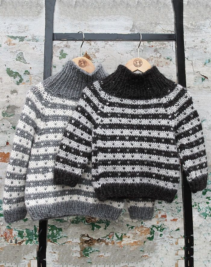 Børn sweater alpaca uld strikkekit