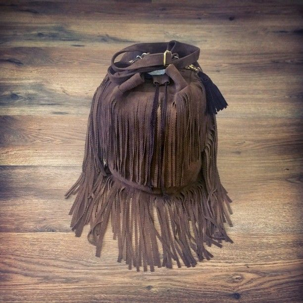 fringe #tassel #bag #sack #handmade #sewing #embroidery #szycie #rękodzieło #zawieszka #leather #suede #skóra #shopping #fashion #fabric #famous #outfit #Koszalin #Deutschland #design #Brown #model 7