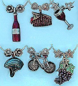 Wine Touring Painted Charms Things