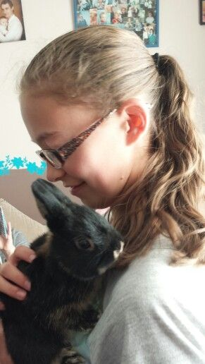 Steph 's new bunny, Roger.