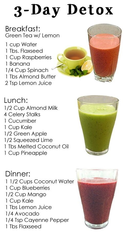 3-Day Detox Cleanse.  (Might need to add a little more protein in there.)
