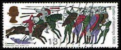Horsemen & Guards Stamp - Horses -  Great Britain 477 Stamp - EU GB 477-1