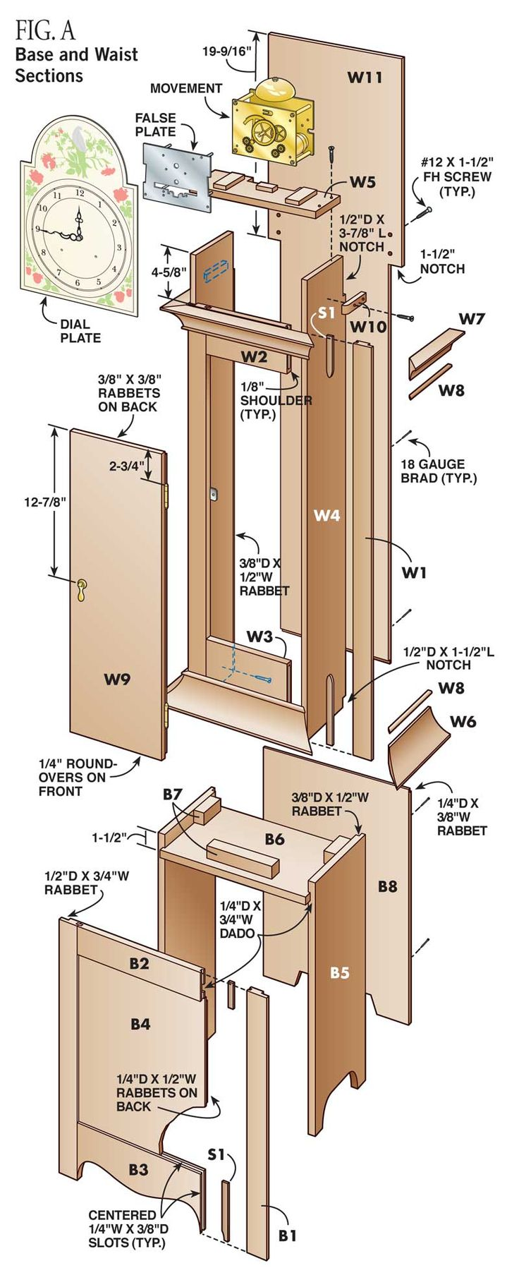 17 best images about woodwork diy on pinterest woodworking projects for beginners pallet - Grandfather clock blueprints ...