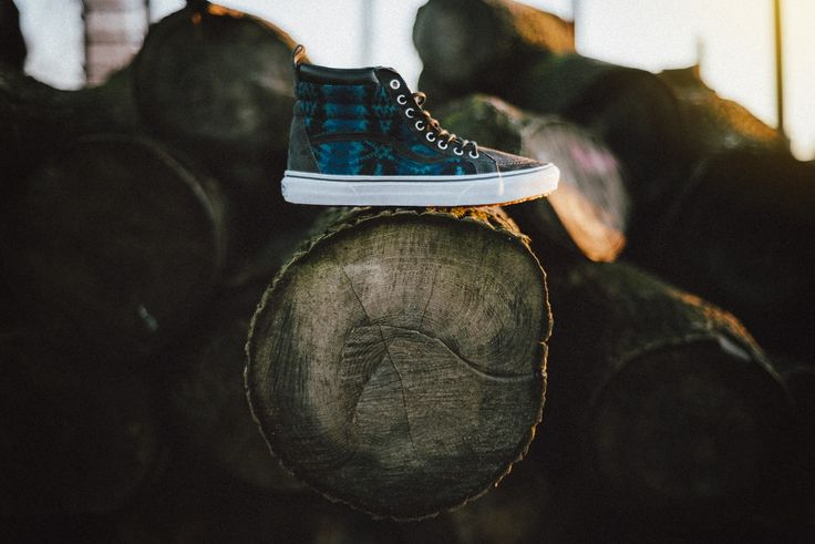 In the woods. Vans x Pendleton SK8-HI: http://www.footshop.eu/en/mens-shoes/6017-vans-x-pendleton-sk8-hi-mte-pendleton-tribal-asphalt.html #vans #collaboration #footshop