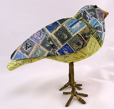 Unique Bird Made Of Postage Stamps Eclectic Home Decor From Udderlygoodstuff Http