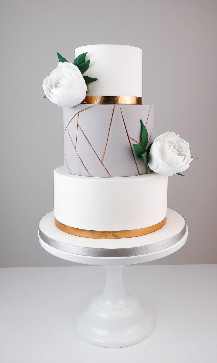 15 of our Favorite Geometric Wedding Cakes for a Modern Wedding  – wedding cakes, food and drinks