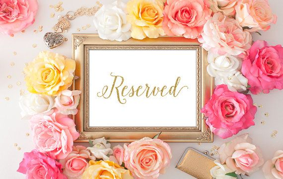75% OFF SALE  Reserved Signs for Wedding  by DreamBigPrintables
