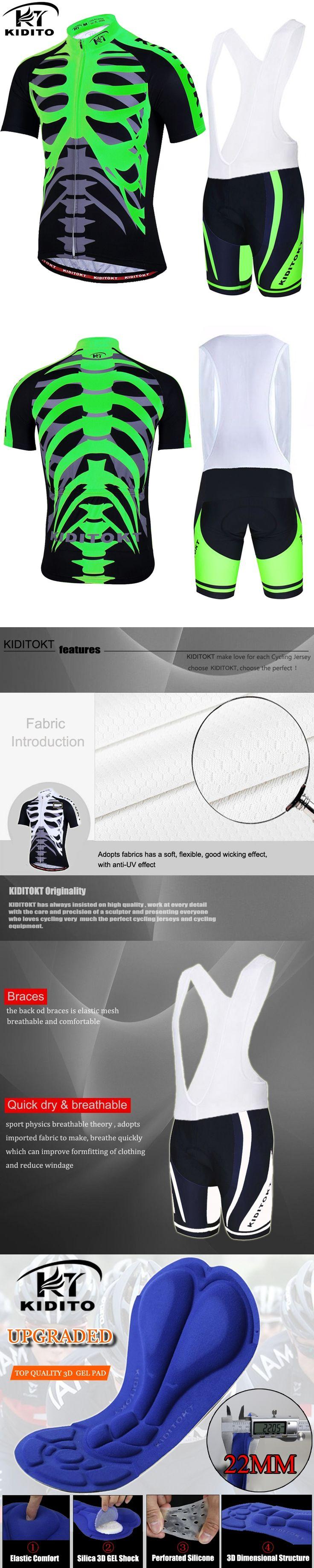 KIDITOKT Pro Cycling Jersey set/ Bike uniform Cycle shirt Ropa ciclismo/ Bicycle Clothing Wear MTB Cycling Clothing Cycling Set