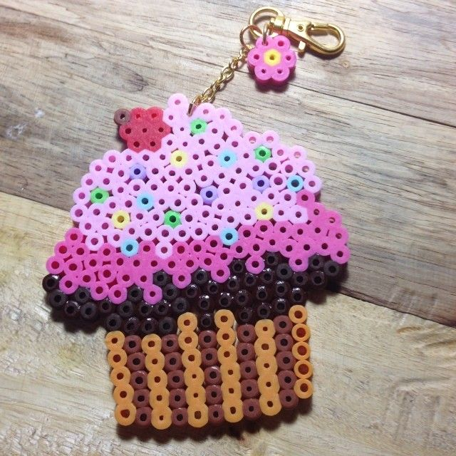 Cupcake hama beads by sweetpixyshop