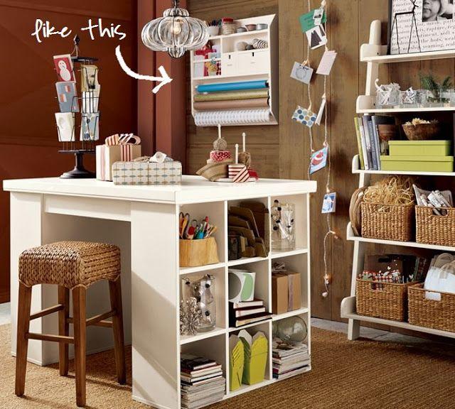 craft room organization craft ideas pinterest. Black Bedroom Furniture Sets. Home Design Ideas