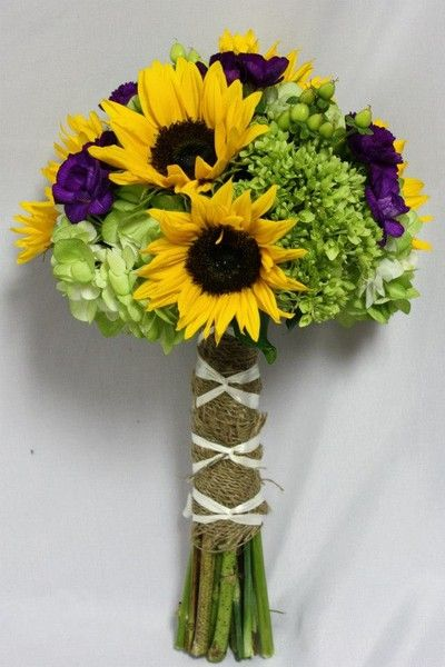 Bouquet, Brown, Fall, Green, Hydrangea, Ivory, I liked the wrap on this one. Modern, Purple, Romantic, Rustic, Shabby Chic, Spring, Summer, Vintage, White, Wildflower, Winter, Yellow