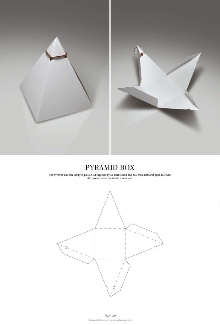 Pyramid Box - Packaging & Dielines: The Designer's Book of Packaging Dielines