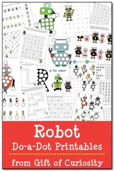 Robot Do-a-Dot Printables