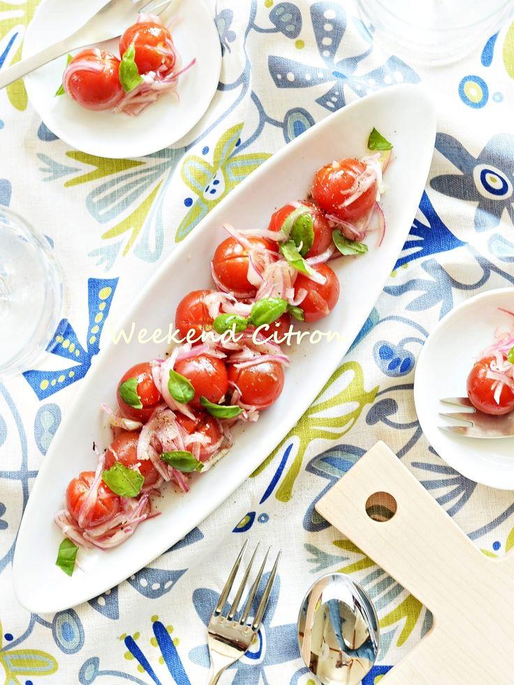 ミニトマトと玉ねぎのマリネ by 北島真澄   レシピサイト「Nadia   ナディア」プロの料理を無料で検索