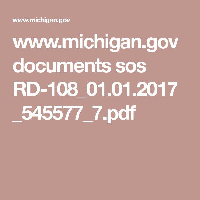 www.michigan.gov documents sos RD-108_01.01.2017_545577_7.pdf
