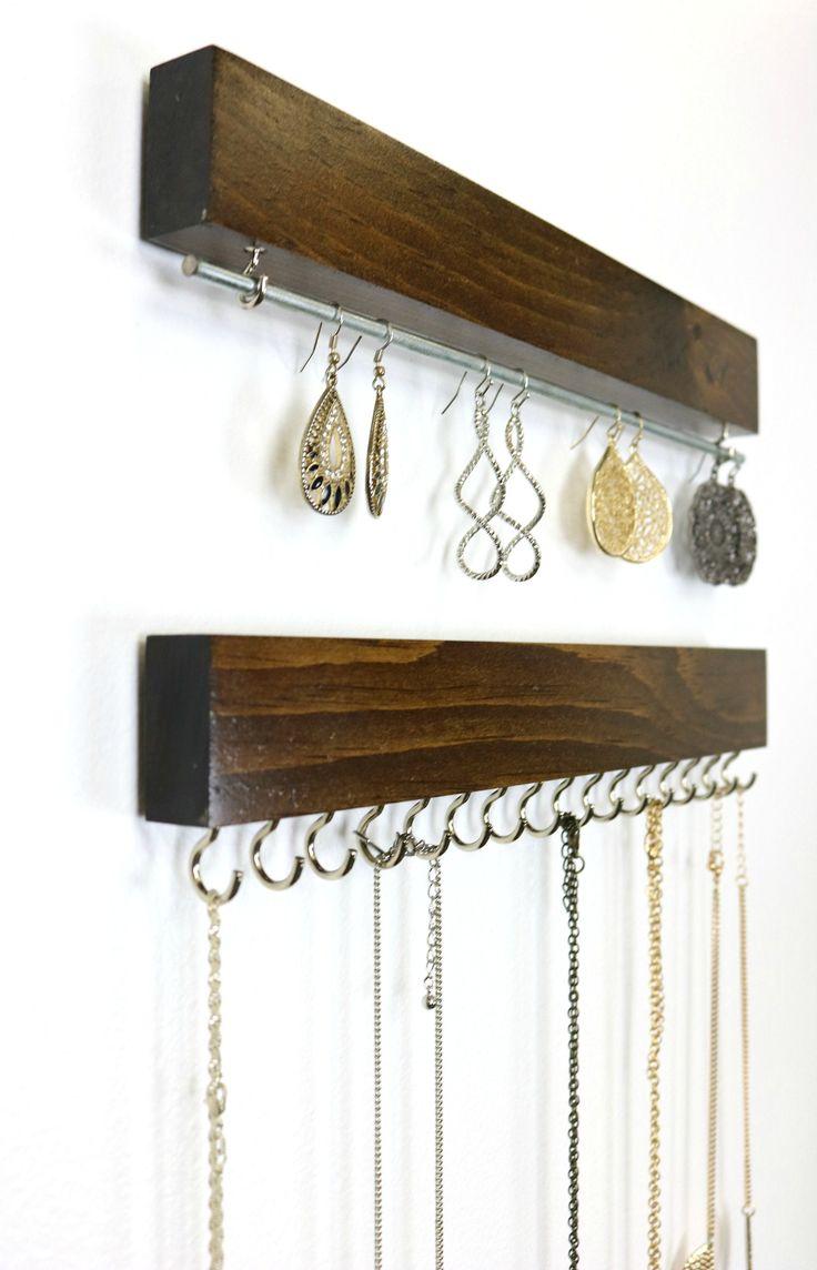 22 Best Wall Mounted Necklace Holders Ideas Jewellery Storage Jewelry Organization Display