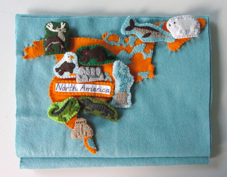 North America Continent Work - Animals of North America for the ... Continent Wall Maps
