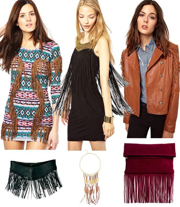 Chaquetas, abrigos, vestidos, bolsos, bikinis, zapatos… esta temporada de primavera verano 2014 los flecos protagonizan una de las tendencias más marcadas, con inspiraciones en el far west, en los años 20 y en la moda hippie de los años 60.