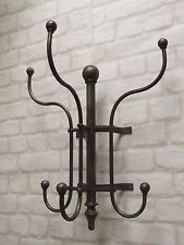 Vintage Industrial Style Metal Wall Mounted Coat Hooks Rack Hanger Home / Office