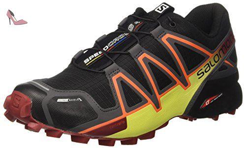 Salomon Speedcross 4 Cs, Chaussures de Trail Homme, Multicolore (Black/magnet/red Dalhia), 48 EU - Chaussures salomon (*Partner-Link)