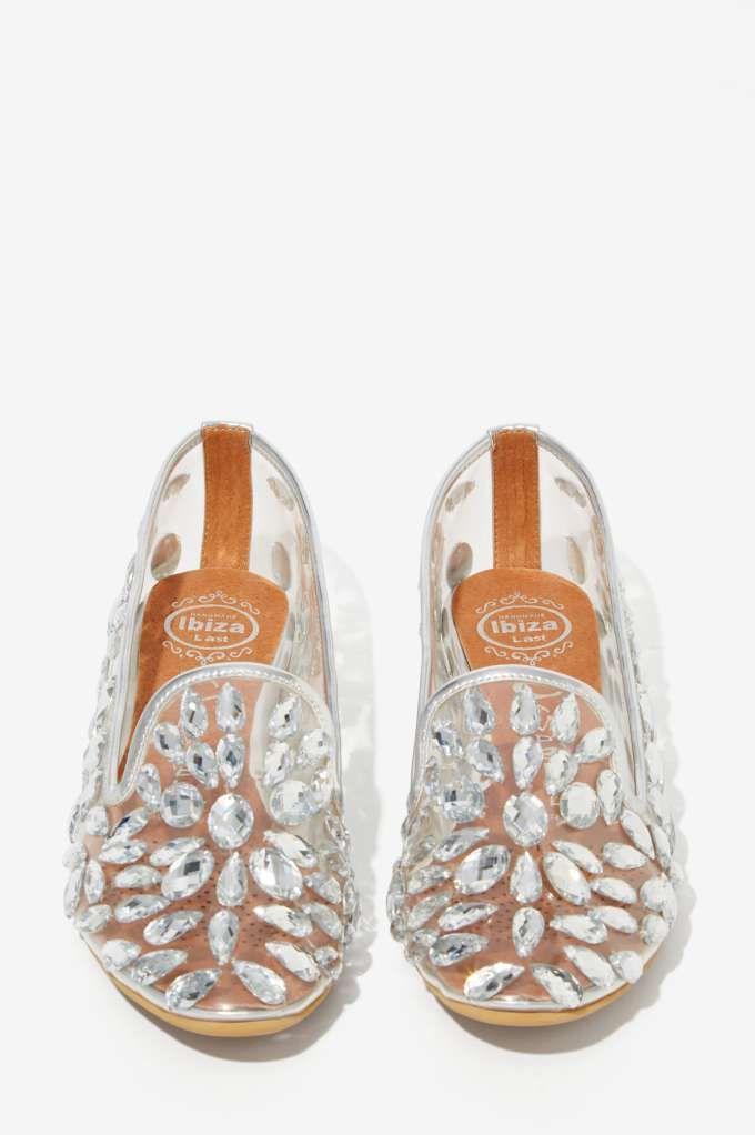 Jeffrey Campbell Elegant Jeweled Loafers