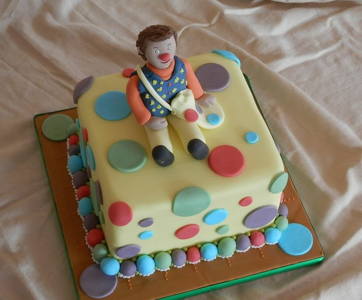 Mr Tumble Cake with Topper......................................... Orders taken here at Crumbs of Joy OR Simple Email Us through our website ......... CHECK IT OUT https://www.facebook.com/BecclesCrumbsofJoy